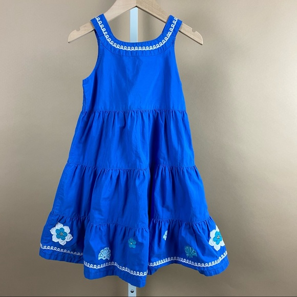Gymboree 3T 4T Spring Vacation Cold Shoulder Ruffle Embroidered Chambray Top NWT
